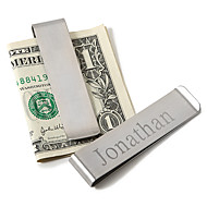 cheap Men's Accessories-Stainless Steel Money Clips Groom Groomsman Wedding Anniversary Birthday