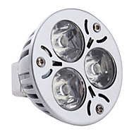 billige -3W 260-300 lm GU5.3(MR16) LED-spotpærer MR16 3 leds Høyeffekts-LED Naturlig hvit DC 12 V