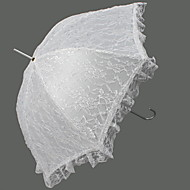 "Wedding Lace Umbrella Hook Handle 32.7""(Approx.83cm) Plastic 39.4""(Approx.100cm)"