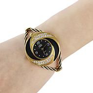 בגדי ריקוד נשים שעוני אופנה שעון צמיד קווארץ סגסוגת להקה מדבקות עם נצנצים צמיד שחור לבן כחול אדום ורוד סגול