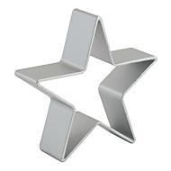 Bakeform Stjerne Kake Til Småkake Pai Aluminium GDS Høy kvalitet Jul