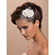 cheap Wedding Headpieces-Tulle Crystal Fabric Tiaras Fascinators Flowers 1 Wedding Special Occasion Party / Evening Casual Outdoor Headpiece