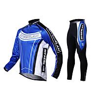 Mysenlan Muškarci Dugih rukava Biciklistička majica s tajicama - Crn Bicikl Biciklizam Hulahopke Biciklistička majica Kompleti odjeće,
