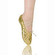 cheap Ballet Shoes-Women's Children's Ballet Leatherette Flat Flat Heel Gold Non Customizable