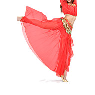 Danse du ventre Jupe Femme Entraînement / Utilisation Mousseline de soie Avant Fendu Taille basse Jupe / Spectacle