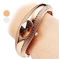 billige Quartz-Dame Armbåndsur Quartz Afslappet Ur Legering Bånd Analog Afslappet Armring Mode Sølv / Bronze - Sølv Bronze