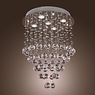 Chandelier Flush Mount ,  Modern/Contemporary Others Feature for Crystal Bulb Included Metal Living Room Bedroom Dining Room