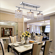 cheap Ceiling Lights & Fans-Modern/Contemporary Crystal Flush Mount Ambient Light For Bedroom Dining Room Entry 110-120V 220-240V Bulb Not Included