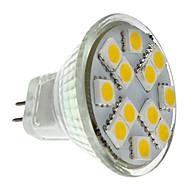 billige Spotlys med LED-2 W 160 lm GU4(MR11) LED-spotpærer MR11 12 LED perler SMD 5050 Varm hvit 12 V