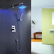 billige Sprinkle®-kraner-Moderne  with  Krom Enkelt Håndtak Fire Huller  ,  Trekk  for Foss LED