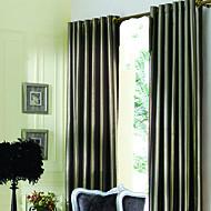 baratos Tratamentos para Janelas-(Dois painéis) modern marrom jacquard forrado cortinas