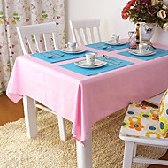 cheap Table Linens-Beige / Blue / Brown / Green / Pink / Purple / Red / Yellow / Orange 100% Cotton Table Cloths