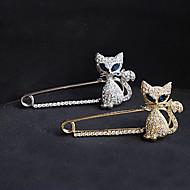preiswerte Frauen Broschen-Damen Broschen Kristall Luxus Party Freizeit nette Art Modisch Diamantimitate Katze Tier Schmuck Für Party Besondere Anlässe Geburtstag