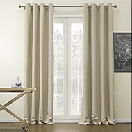 Two Panels Curtain Modern Solid Living Room Polyester Material Blackout Curtains Drapes Home Decoration