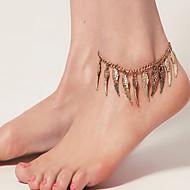 Женщин старинных Angel Wings ножные браслеты