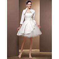 Princess Bez ramínek Ke kolenům Satén Tyl Svatební šaty s Mašle podle LAN TING BRIDE®