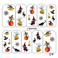1PCS Water Transfer Printing Nail Stickers NO.15(Assorted Colors)