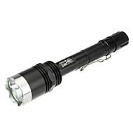 billige -X8 LED Lommelygter / Lommelygter LED 1000lm 5 Lys Tilstand Camping / Vandring / Grotte Udforskning / Dagligdags Brug / Politi / Militær