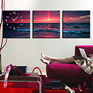 moderne stil sjøen veggur i canvas 3pcs