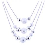 Mulheres Colares Declaração colares em camadas Jóias Prata de Lei Liga Moda bijuterias Jóias Para Festa Diário