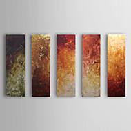 El-Boyalı Soyut Yatay,Klasik Beş Panelli Hang-Boyalı Yağlıboya Resim For Ev dekorasyonu