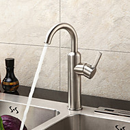 cheap Sprinkle® Faucets-Contemporary  with  Brushed Single Handle One Hole  for Centerset
