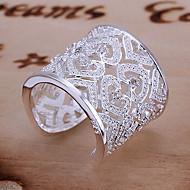 voordelige Sieraden-Dames Statementringen manchet Ring Luxe Uniek ontwerp Liefde Bruids Elegant Sterling zilver Strass Hart Sieraden Bruiloft Feest