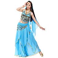 Danse du ventre Tenue Femme Mousseline de soie Billes / Paillette / Jeton Taille moyenne / Spectacle