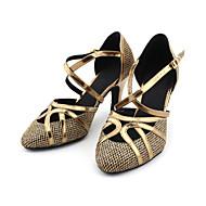 billige Moderne sko-Dame Moderne sko / Ballett Glimtende Glitter / Kunstlær Høye hæler Kustomisert hæl Kan spesialtilpasses Dansesko Bronse / Gull