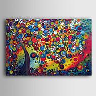 billiga Blom-/växtmålningar-Hang målad oljemålning HANDMÅLAD - Landskap Samtida Duk