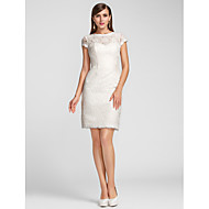 Sheath / Column Jewel Neck Scalloped Knee Length Lace Party Dress by TS Couture®