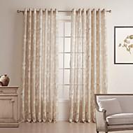billige Gardiner ogdraperinger-To paneler Window Treatment Rustikk Soverom Lin/Bomull Blanding Materiale Gardiner Skygge Hjem Dekor For Vindu