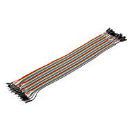 billige -40pin 1P-1P Mand til Kvinde Dupont Linje Farverige Dupont Wire (30cm)