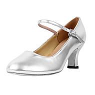 billige Moderne sko-Dame Moderne sko / Ballett Kunstlær Høye hæler Kubansk hæl Kan ikke spesialtilpasses Dansesko Svart / Sølv / Gull