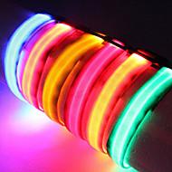 קולרים נורות LED חוזרמתכווננת אחיד ניילון