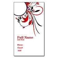 Χαμηλού Κόστους Προσαρμοσμένη Κάρτες-200pcs Εξατομικευμένη 2 Πλευρές Έντυπα Matte Film Pattern Vertical Μπουκέτο Business Card