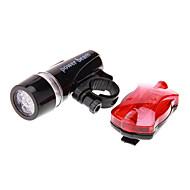 自転車用ライト 自転車用ヘッドライト 後部バイク光 LED サイクリング 防水 LEDライト 単四電池 100 ルーメン バッテリー キャンプ/ハイキング/ケイビング サイクリング