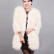 Χαμηλού Κόστους Αξεσουάρ για πάρτι-μακρύ μανίκι γιακά γούνα στρουθοκαμήλου Κόμμα / βράδυ το παλτό (περισσότερα χρώματα)