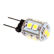 1W G4 LED-kornpærer T 10 leds SMD 2835 Kjølig hvit 60-80lm 5500-6500K DC 12V