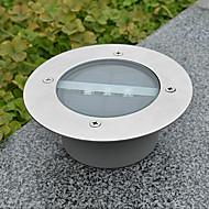 White Light LED Solar Light Round Recessed Deck Dock Pathway Garden Light