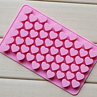 Love Heart Shape Chocolate Tray, Silicone 55 Holes(Color Randoms) CM-87