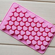 """אוהב מגש שוקולד בצורת לב, סיליקון 55 חורים (הרנדומים צבע) ס""""מ 87"""