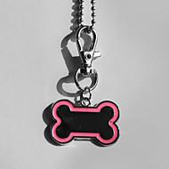 Personalizované dárky a Bone Shape Pink a Black Pet Id Jmenovka s řetězem pro psy