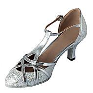 billige Moderne sko-Dame Moderne Ballett Glimtende Glitter Kunstlær Høye hæler Kustomisert hæl Sølv Gull Kan ikke spesialtilpasses
