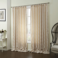Two Panels Modern Leaf Yellow Living Room Polyester Panel Curtains Drapes