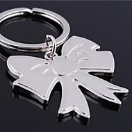 preiswerte -Individuelle Gravur Geschenk Bowknot geformt Schlüsselbund