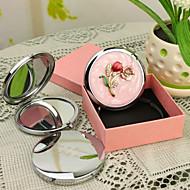 Χαμηλού Κόστους Προσαρμοσμένη-Εξατομικευμένη δώρων Blossom Pink Style Chrome Compact Mirror