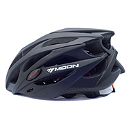 MOON Voksen Bike Helmet 25 Ventiler Nedslags Resistent EPS, PC Sport Vej Cykling / Cykling / Cykel / Mountain Bike - Sort Herre / Dame