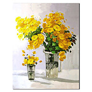 Hand Painted Oil Painting Still Life Yellow Daisy with Stretched Frame