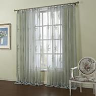 billige Gjennomsiktige gardiner-country to paneler blad grå roms ren gardiner nyanser